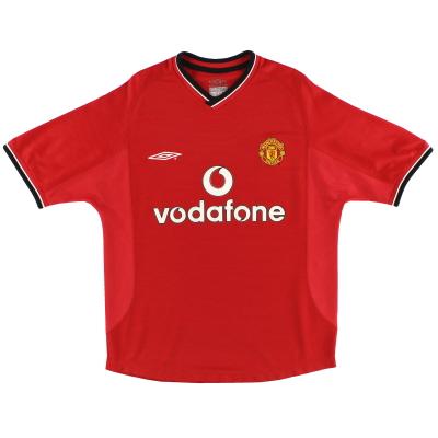 2000-02 Manchester United Umbro Home Shirt L.Boys