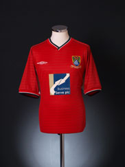 2000-02 Morecambe Home Shirt XL