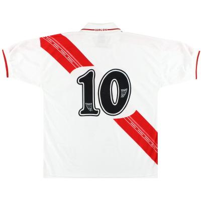 2000-02 Peru Home Shirt #10 XL