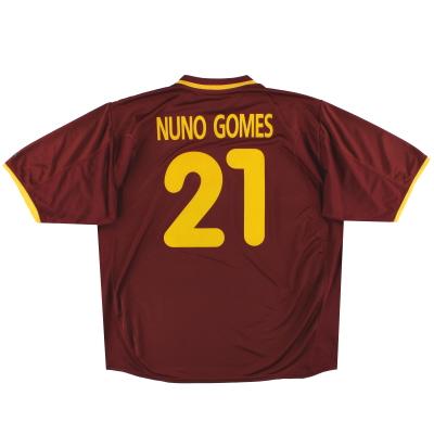 2000-02 Portugal Nike Home Shirt Nuno Gomes #21 XXL
