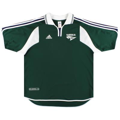 2000-02 Slovenia adidas Home Shirt *Mint* XL