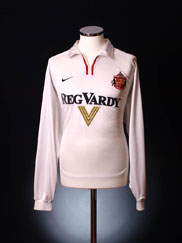 2000-02 Sunderland Away Shirt L/S L