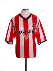2000-02 Sunderland Home Shirt XL.Boys