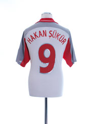 2000-02 Turkey Away Shirt Hakan Sukur #9 M