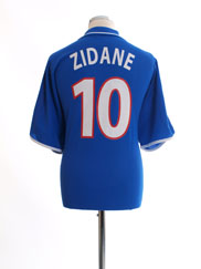 2000 France Home Shirt Zidane #10 XL