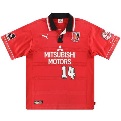 2000 Urawa Red Diamonds Puma Player Issue Home Shirt #14 L