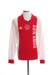 2001-02 Ajax Match Issue Home Shirt #14 L/S XL
