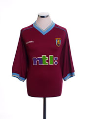 2001-02 Aston Villa Home Shirt XXXXL