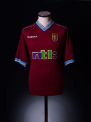 2001-02 Aston Villa Home Shirt XXL