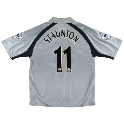 2001-02 Aston Villa Match Issue Shirt Staunton #11 *As New* XL