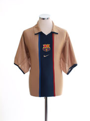 2001-02 Barcelona Away Shirt XXL