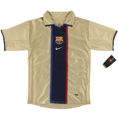 2001-02 Barcelona Nike Away Shirt *w/tags* L.Boys