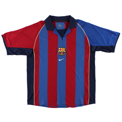 2001-02 Barcelona Nike Home Shirt L