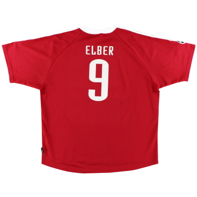 2001-02 Bayern Munich Champions League Shirt Elber #9 XXL
