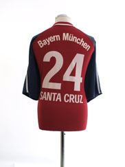 2001-02 Bayern Munich Home Shirt Santa Cruz #24 XXL