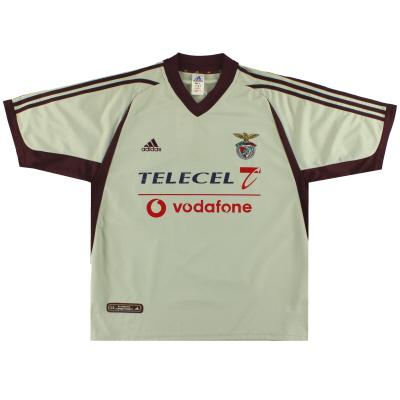 2001-02 Benfica adidas Away Shirt XL