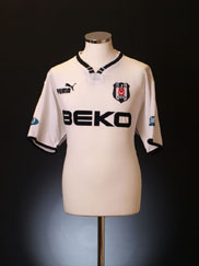 2001-02 Besiktas Home Shirt Ilhan Mansiz #17 L