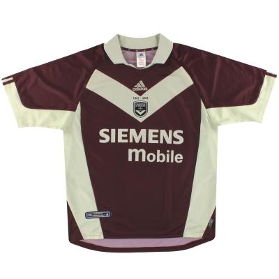 2001-02 Bordeaux adidas '120th Anniversary' Third Shirt XL