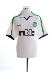 2001-02 Celtic Away Shirt M