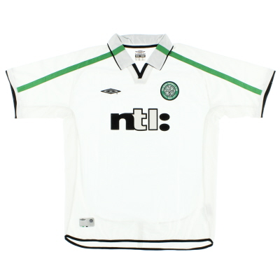 2001-02 Celtic Away Shirt S