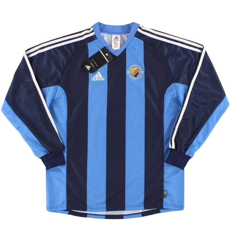 2001-02 Djurgardens adidas Home Shirt *BNIB* L/S L