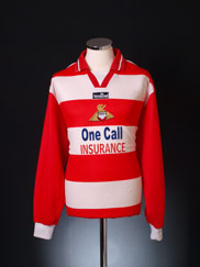 2001-02 Doncaster Rovers Home Shirt L/S XL