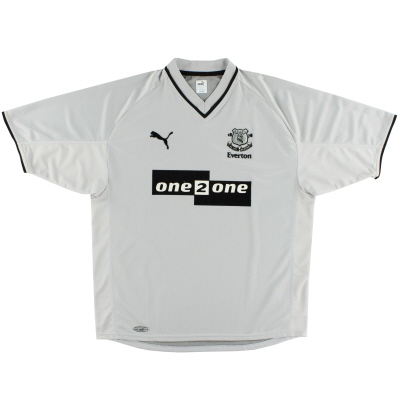 2001-02 Everton Away Shirt M