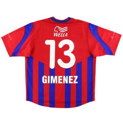 2001-02 FC Basel Nike Home Shirt Gimenez #13 XL