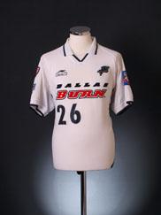 2001-02 FC Dallas Burn Match Issue Away Shirt O'Brien #26 L