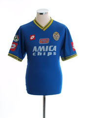 2001-02 Hellas Verona Match Issue Home Shirt #3 L