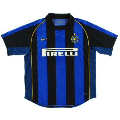 2001-02 Inter Milan Home Shirt #10 XL