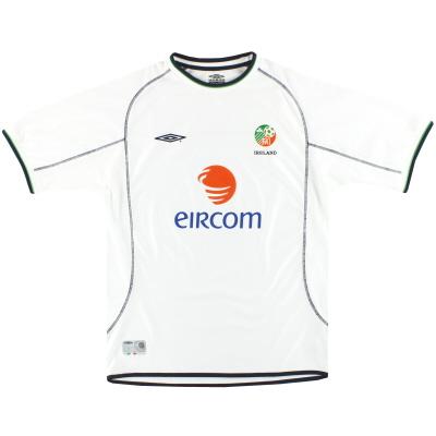 2001-02 Ireland Umbro Away Shirt XL