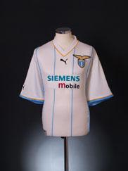 2001-02 Lazio European Shirt XXL