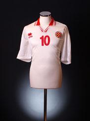 2001-02 Malta Match Issue Away Shirt #10 XXL