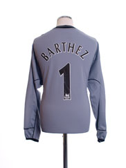 2001-02 Manchester United Centenary Goalkeeper Shirt Barthez #1 L/S L