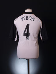 2001-02 Manchester United Umbro Centenary Away Shirt Veron #4 XL