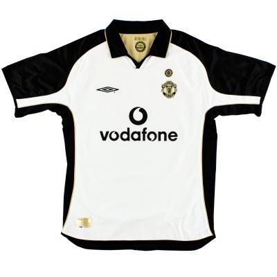 2001-02 Manchester United Umbro Centenary Reversible Away Shirt L.Boys