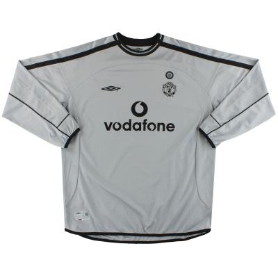 2001-02 Manchester United Umbro Centenary Goalkeeper Shirt L.Boys