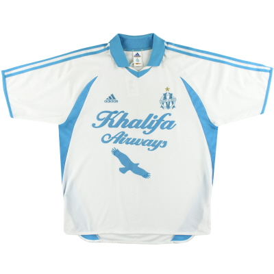 2001-02 Marseille adidas Home Shirt XL
