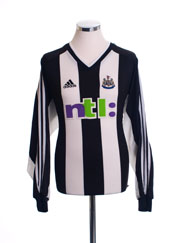 2001-02 Newcastle Home Shirt L/S L