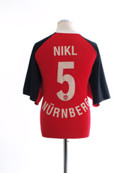 2001-02 Nurnberg Home Shirt Nikl #5 XL