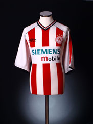 2001-02 Olympiakos Home Shirt L