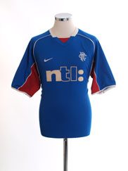 2001-02 Rangers Home Shirt L