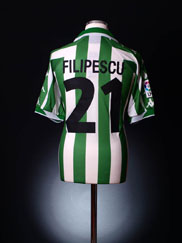 2001-02 Real Betis Match Issue Home Shirt Filipescu #21 *BNWT* XL