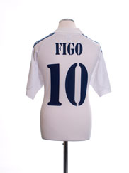 2001 Real Madrid Centenary Home Shirt Figo #10 M