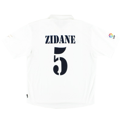 2001-02 Real Madrid Centenary Home Shirt Zidane #5 XL