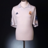 2001-02 Real Madrid Champions League Centenary Home Shirt Raul #7 L