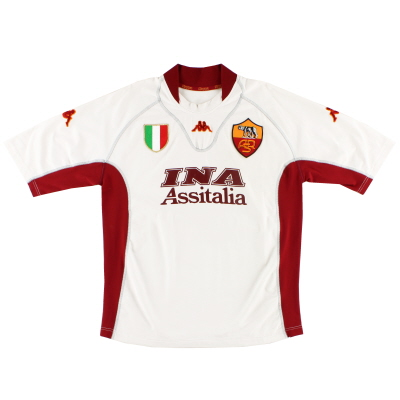 2001-02 Roma Away Shirt XL