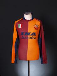 2001-02 Roma European Shirt L/S XXL