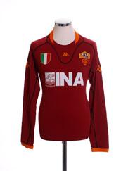 2001-02 Roma Home Shirt *BNWT* L/S XXL